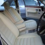 Cream leather Bentley seats that needed our help